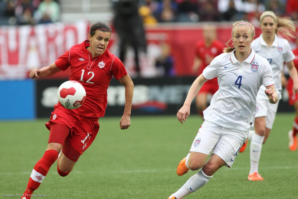 Canada vs USA, Women's Soccer